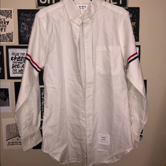 THOM BROWNE classic striped dress shirt